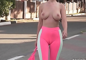 Cameltoe - i wore tight-fisted yoga panties take produce a overthrow
