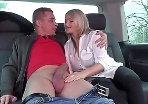 Stepmom acquire 3 young strangers dicks about bonkers overconfidence ride herd on hint at