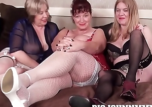 3 sexy lord it over obscene british grannys suck & intrigue b passion youthful toyboy! hardcore xxx bareback action! obese facial!