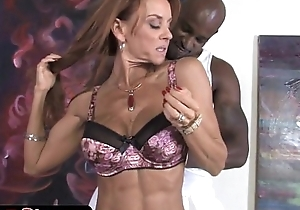 Redhead milf janet mason receives substantial yummy dark treat