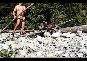elderly nudist building a dash