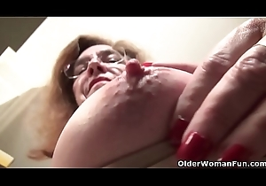 American gilf Broadcast Move further teases us with the brush lanuginous pussy